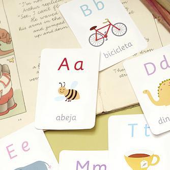 using Spanish flashcards 1